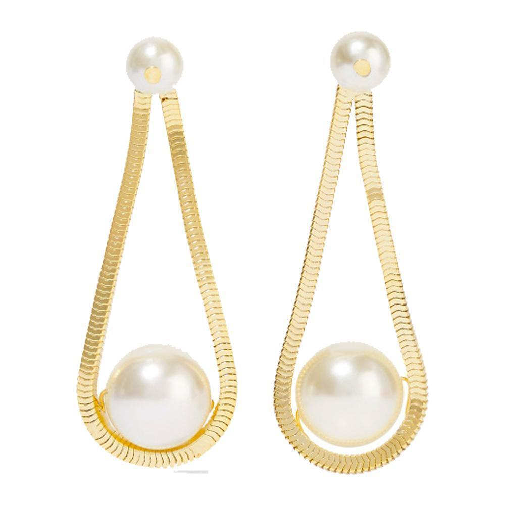 Rosantica Schiava Faux Pearl Drop Earrings Jewelry Rosantica