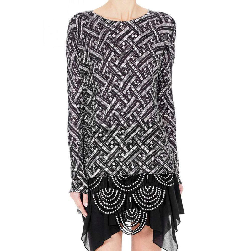 Rag & Bone Careen Black and White Sweater