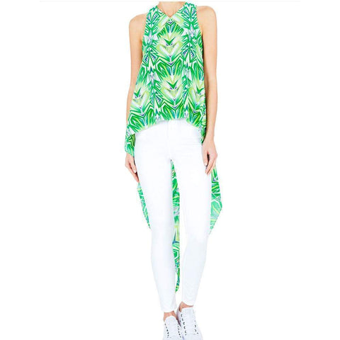 Sass & Bide tops 38 / Green Print Sass and Bide Quick Slow Go Top