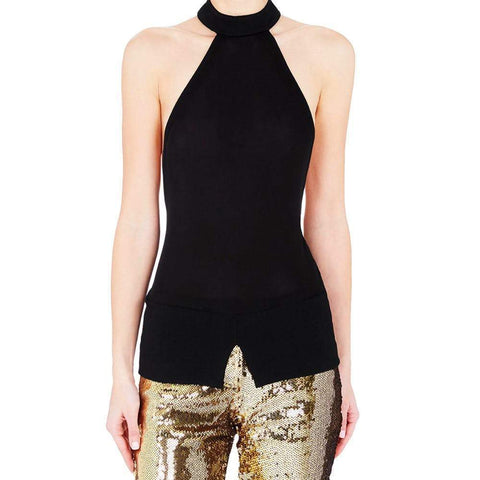 Sass & Bide tops S / BLACK Sass and Bide Enduring Light Black Halter Top