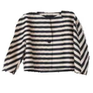 Tomorrowland Cropped Casual Striped Jacket Jackets Tomorrowland