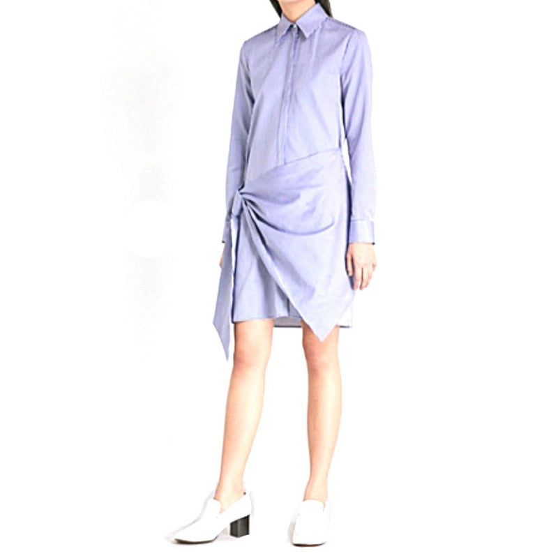 Victoria Victoria Beckham Striped Wrap Front Shirt Dress Dress Victoria Beckham