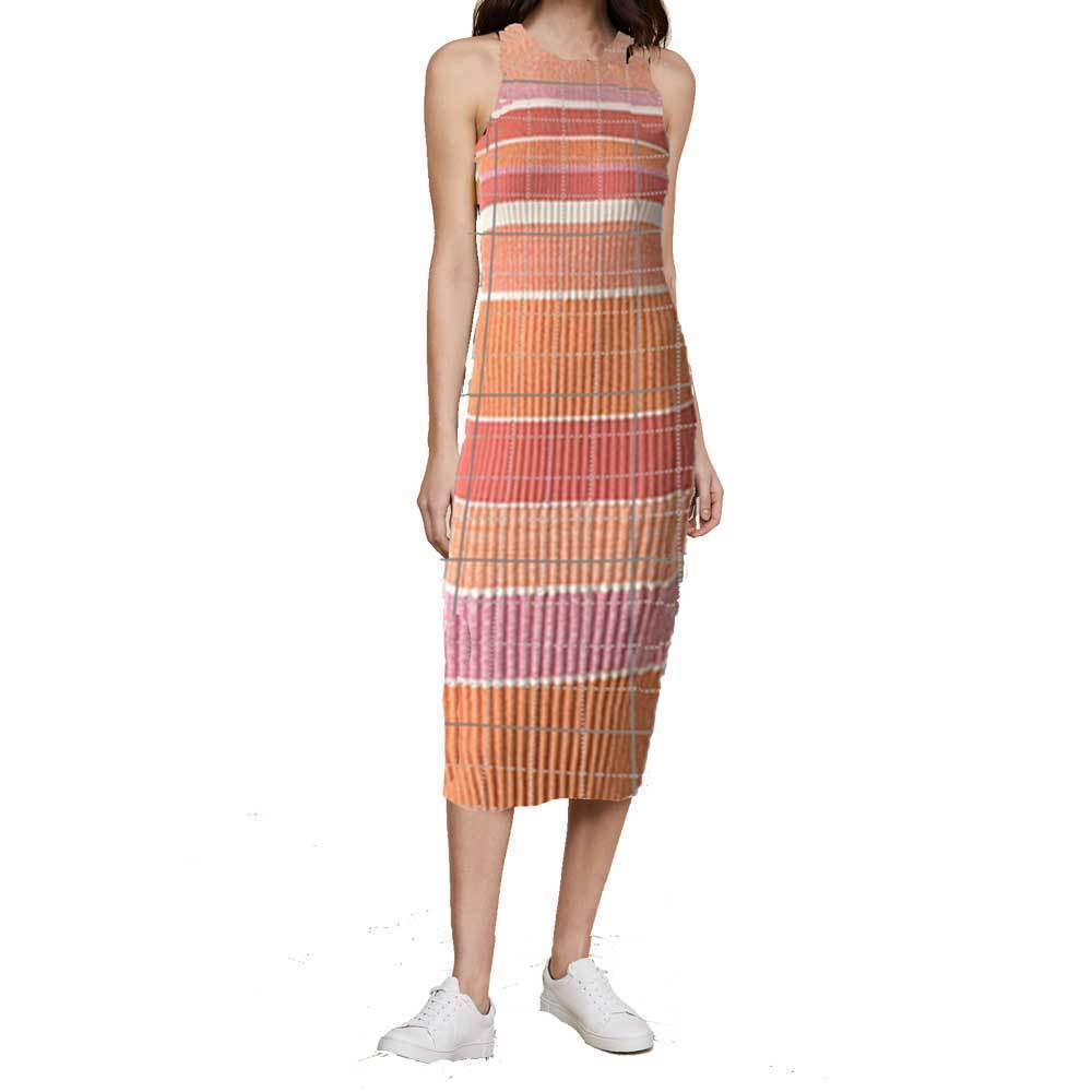 Victoria Victoria Beckham Sleeveless Striped Knit Dress Dress victoria victoria beckham