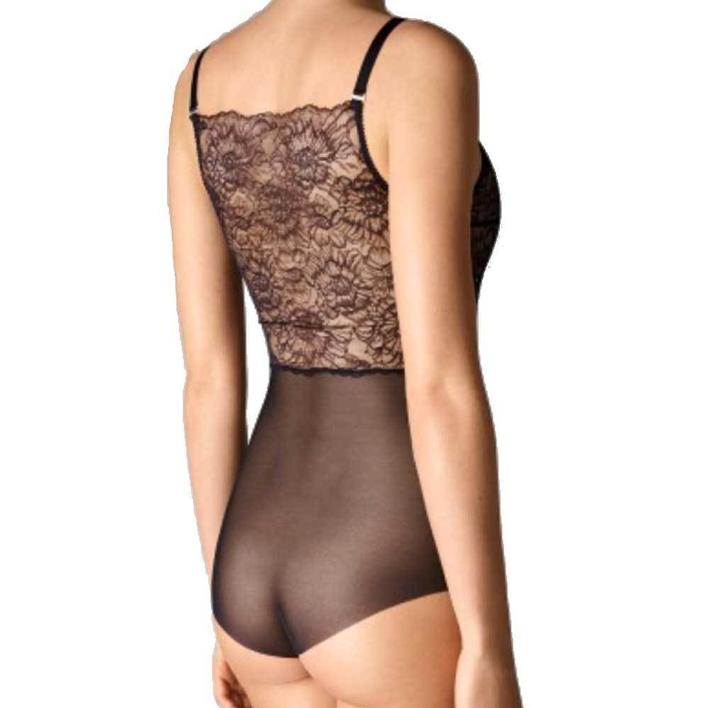 Wolford Black Lace Stretch Forming Bodysuit Wolford