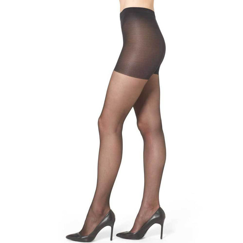 Wolford Individual 10 Black Control Top Pantyhose Hosiery Wolford