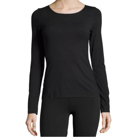 Wolford Tops S / Black Wolford Pure Black Long Sleeve Pullover Top