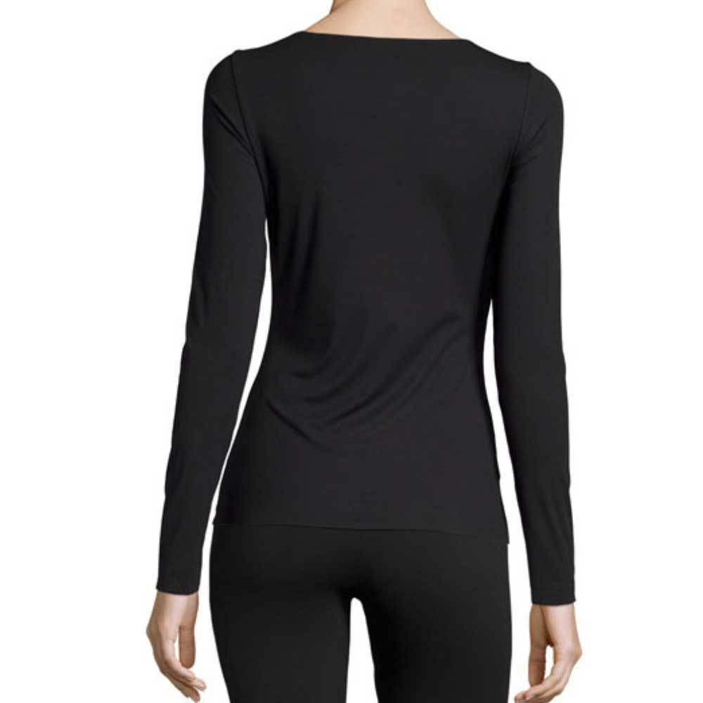 Wolford Pure Black Long Sleeve Pullover Top Tops Wolford