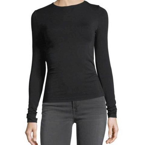 Wolford Tops S / Black Wolford Viscose Black Long Sleeve Pullover Top
