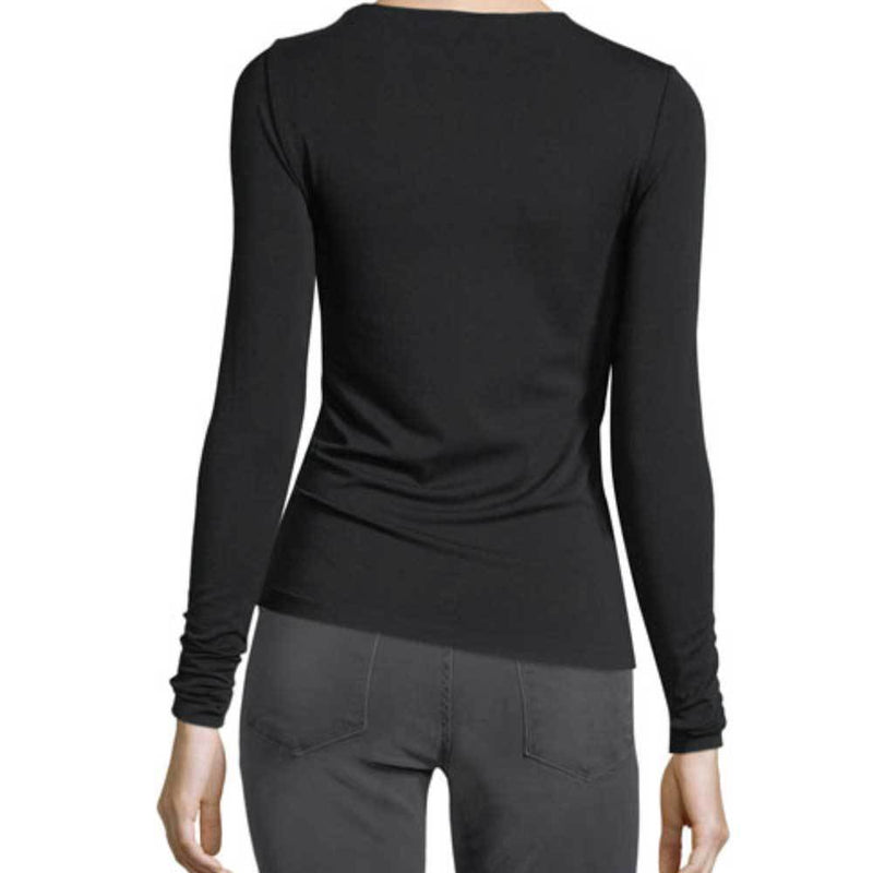 Wolford Viscose Black Long Sleeve Pullover Top Tops Wolford