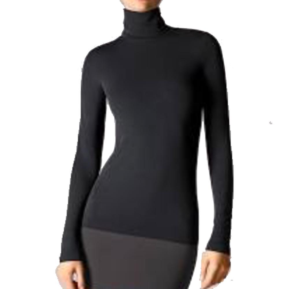Wolford Viscose Black Long Sleeve Turtleneck Pullover Top Tops Wolford