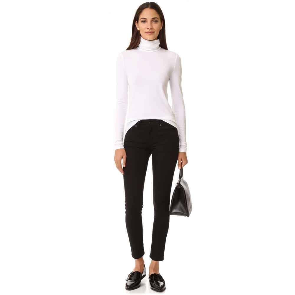 Wolford Viscose White Long Sleeve Turtleneck Pullover Top Tops Wolford