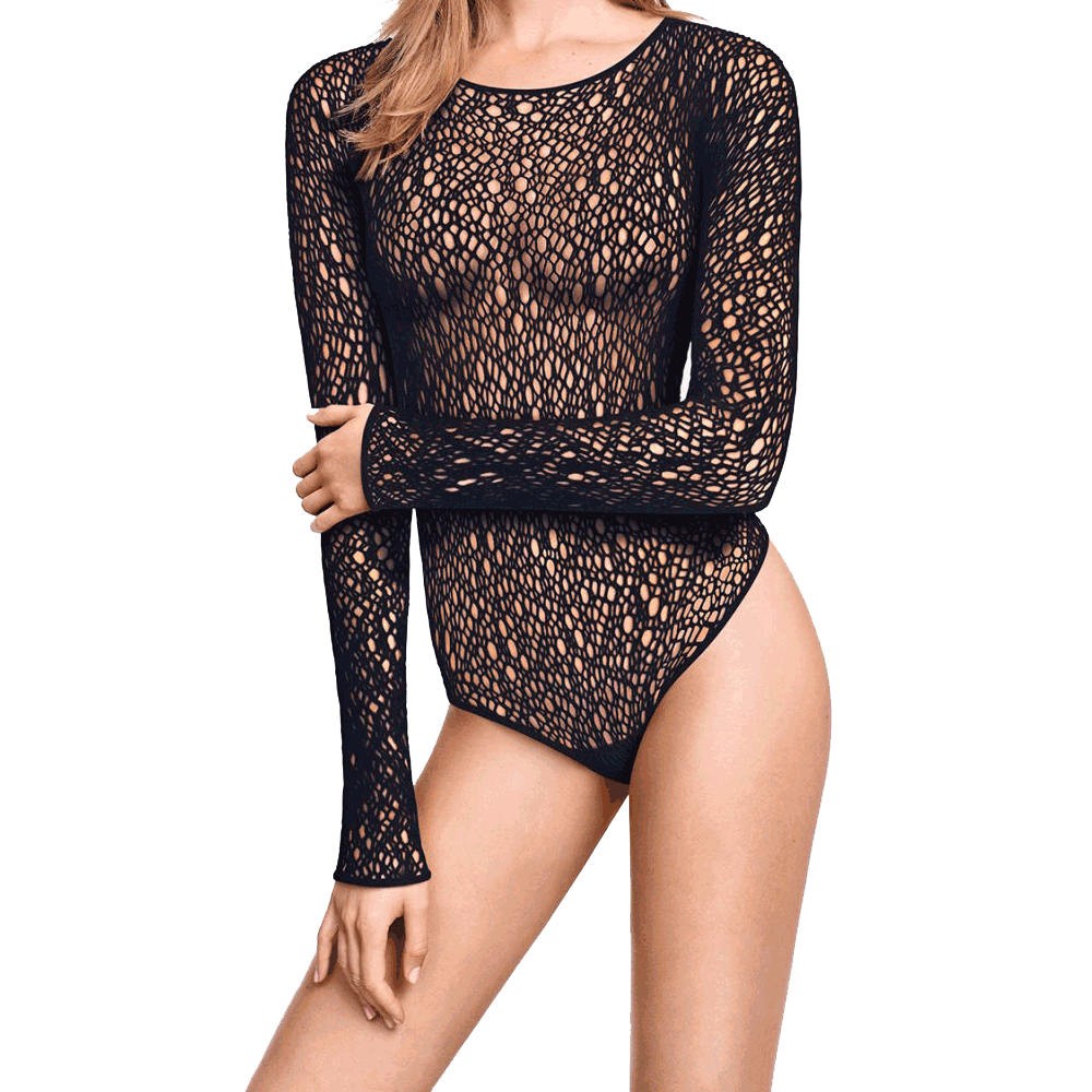 Wolford Lee Black String Bodysuit Tops Wolford