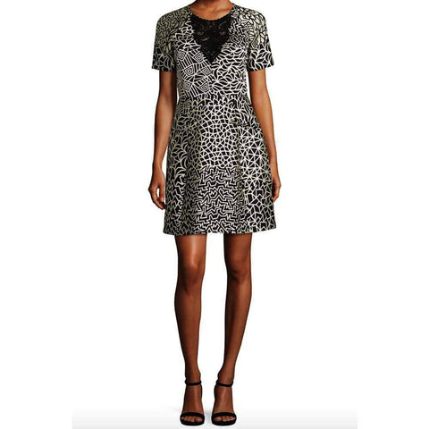Yigal Azrouel Dress 12 / Black Yigal Azrouel Patchwork Dress