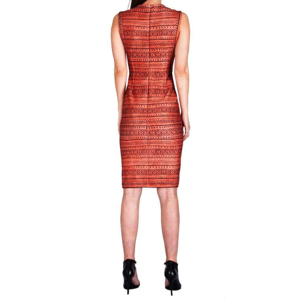Yigal Azrouel Tribal Printed Scuba Dress Dress Yigal Azrouel