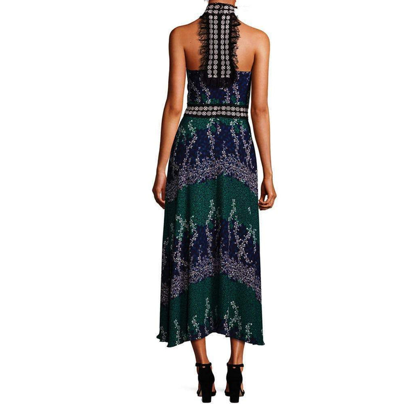 Yigal Azrouel Long Trellis-Print Halter Dress Dress Yigal Azrouel