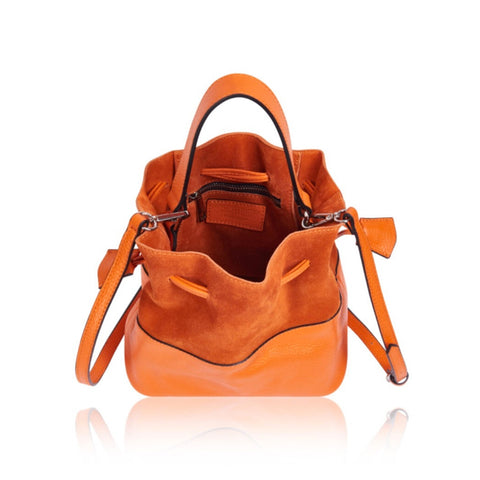 Orange Vittoria Bucket Bag