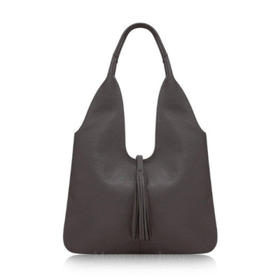 Adira Italian Leather Tassel Hobo Shoulder Bag - Lusso Borsetta