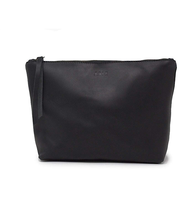 Emnet Zippered Pouch-Black