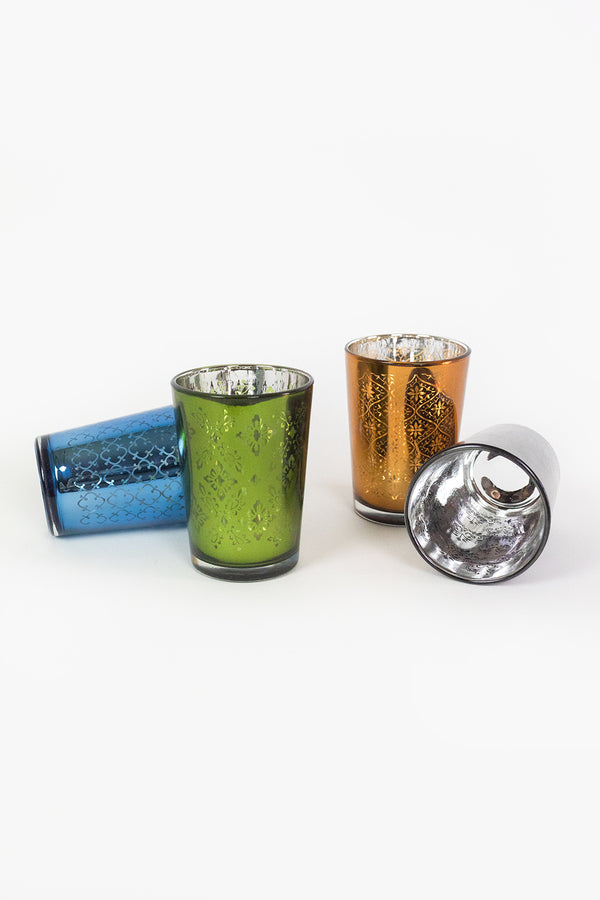 Mercury Glass Tea Light Holders