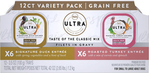 Nutro Ultra Grain Free Savory Assortment Variety Pack Filets in Gravy Wet Dog Food