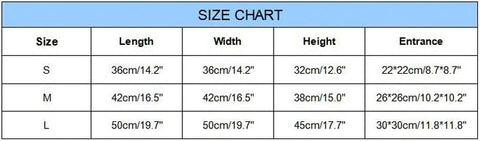 Dog House Size Chart