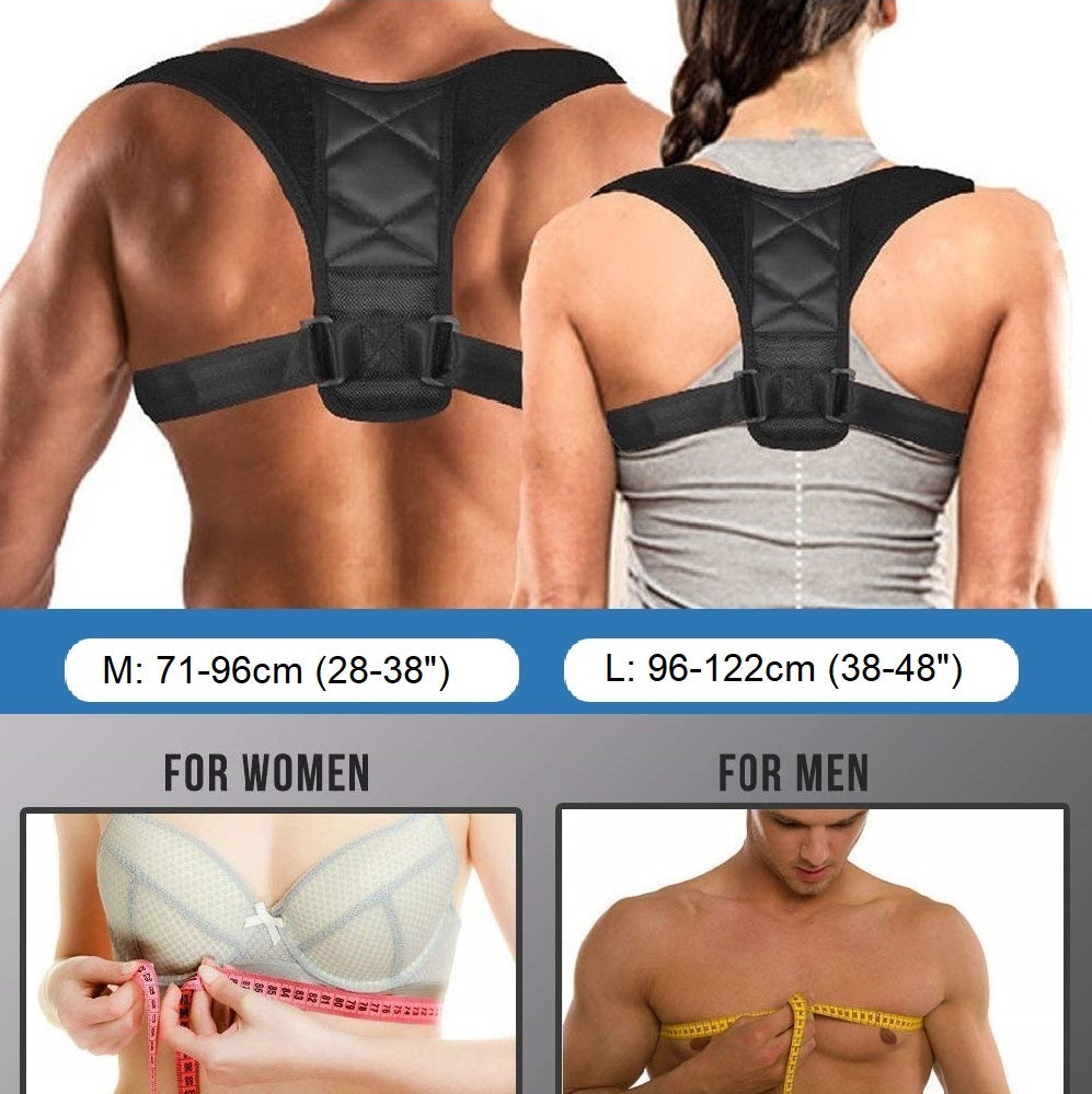 InCrate Posture Corrector Sizing Chart