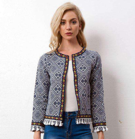 Bohemian Embroidered Jacket-Women's Clothing-Multi-S-InCrate.store