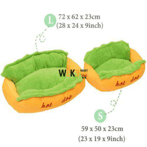 "Image of Cozy Hot Dog Pet Bed-Pet Supplies-59 x 50 x 23 cm / 23"" x 20"" x 9""-InCrate.store"