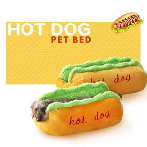 Cozy Hot Dog Pet Bed