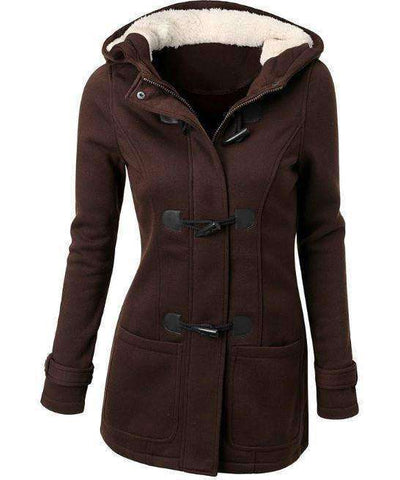 Hooded Winter Parka Jacket-Women's Clothing-Brown-S-InCrate.store