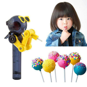 Robot lollipop holder-Kitchenware-Black-InCrate.store