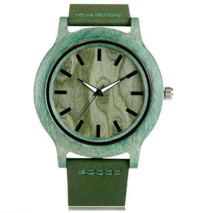 Men Green Wooden Watch