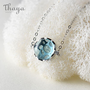 Ocean Ripple Pendant Necklace
