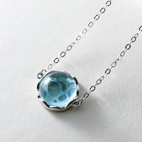 Image of Ocean Ripple Pendant Necklace-Necklaces-InCrate.store