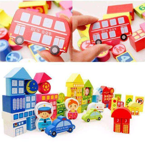 City Traffic Building Blocks-Babies & Kids-InCrate.store