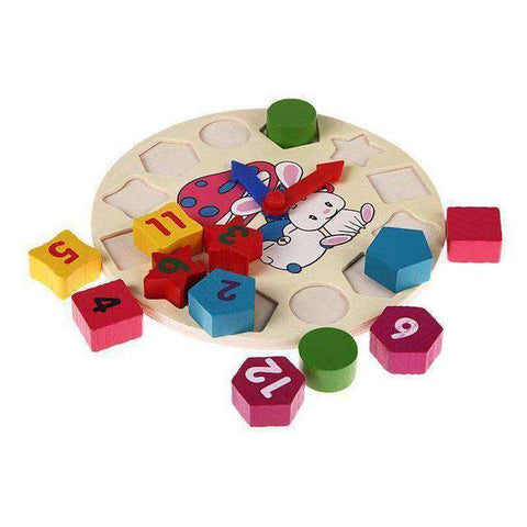 Image of Colorful Clock Wooden Blocks-Babies & Kids-InCrate.store