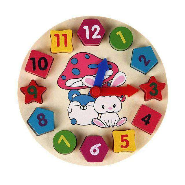Colorful Clock Wooden Blocks-Babies & Kids-InCrate.store