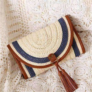 Balinese Style Straw Knitted Handbag-Bags-Blue-InCrate.store
