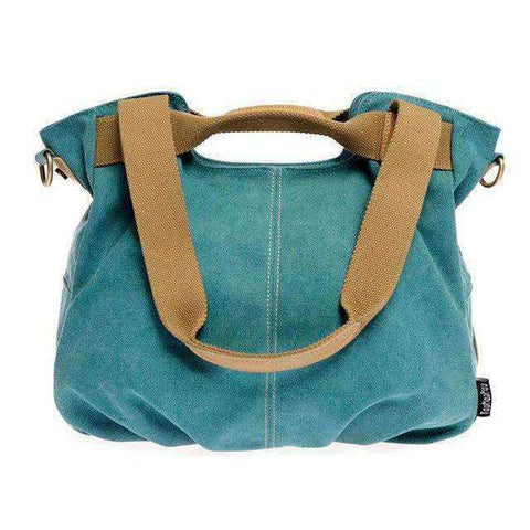 Stylish Women Canvas Handbag-Bags-Blue-InCrate.store