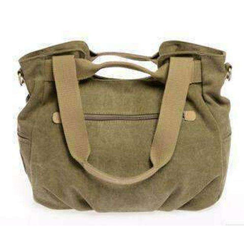 Stylish Women Canvas Handbag-Bags-Green-InCrate.store