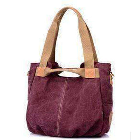 Stylish Women Canvas Handbag-Bags-Purple-InCrate.store