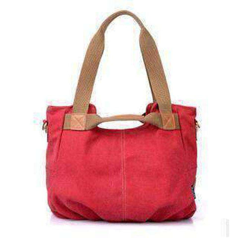 Stylish Women Canvas Handbag-Bags-Red-InCrate.store