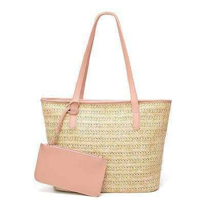Straw Cross-body Bags-Bags-Pink-InCrate.store