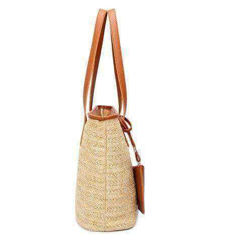 Straw Cross-body Bags-Bags-Brown-InCrate.store