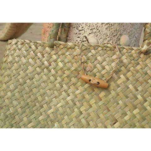 Women Straw Woven Tote-Bags-COFFEE-InCrate.store