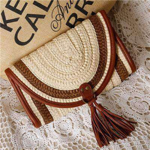 Balinese Style Straw Knitted Handbag