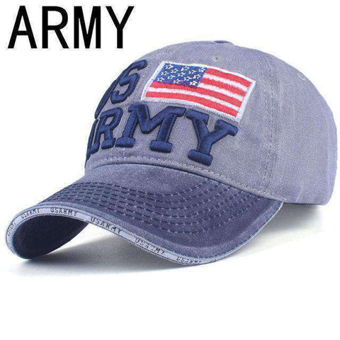 NY Army Baseball Cap-Caps-A GRAY-Adjustable-InCrate.store