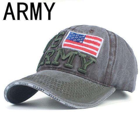 NY Army Baseball Cap-Caps-A GREEN-Adjustable-InCrate.store