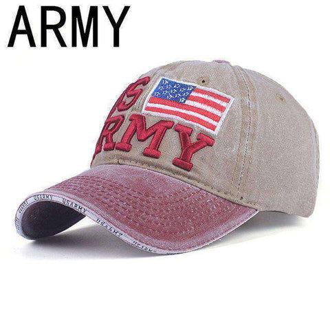 NY Army Baseball Cap-Caps-A KHAKI-Adjustable-InCrate.store