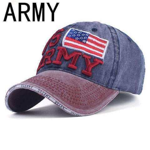 NY Army Baseball Cap-Caps-A NAVY-Adjustable-InCrate.store